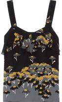 Anna Sui Ruffled Printed Silk-Chiffon Top