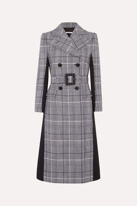 Givenchy Double-breasted Prince Of Wales Checked Wool And Wool-blend Coat - Blue