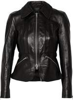 Alexander Wang Smooth And Snake-Effect Leather Jacket