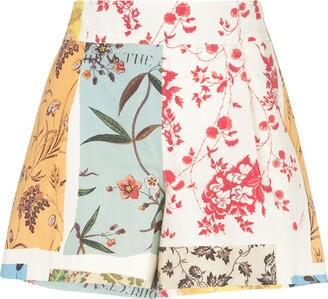 Oscar de la Renta patchwork floral shorts