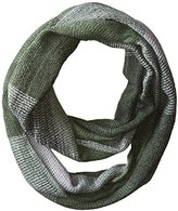 David & Young Women's Oversized Plaid Print Textured Loop Scarf