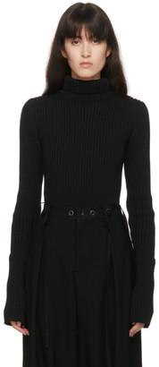 Regulation Yohji Yamamoto Black Tight Knit Turtleneck