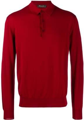 Loro Piana long sleeved polo shirt