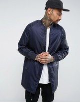 !solid Solid Longline Padded Bomber