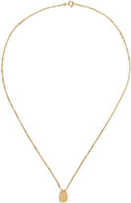 ELHANATI Gold Roxy Mezuzah Tag Necklace