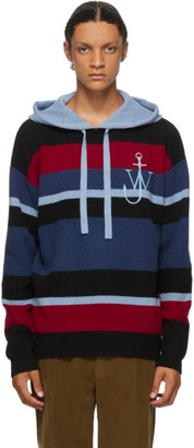 J.W.Anderson Blue Striped Anchor Hoodie