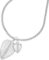 Dower & Hall White Sapphire Double Hammered Heart Pendant Necklace, Silver