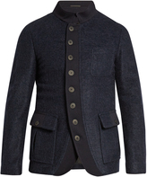 Giorgio Armani Patch-pocket fleece jacket