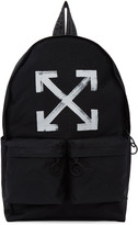 Off-White Black Brushed Arrows Backpack