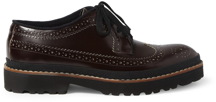 Marni Chunky-Sole Leather Longwing Brogues