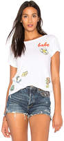 Lauren Moshi Mermaid Patch Croft Vintage Tee in White