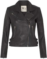 West 14th New Yorker Motor Jacket Worn In Charcoal Leather