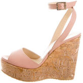 Jimmy Choo Embroidered Platform Wedge Sandals w/ Tags