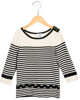 Milly Minis Girls' Striped Sweater