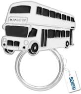 SENFAI Tiny Double-Decker Bus Magnetic Clip Holder Eyeglass Holder Brooch Jewelry Classical