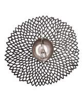 Chilewich Dahlia Black Placemat