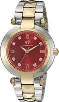 Cabochon Women's 16088-SG-24 Cairo Analog Display Quartz Two Tone Watch