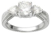 Journee Collection 1 3/4 CT. T.W. Round-cut Cubic Zirconia Bridal Basket Set Ring in Sterling Silver - Silver
