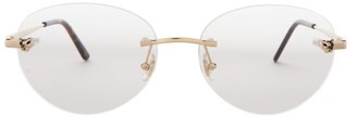 Cartier Core Rimless Metal Glasses - Gold