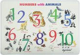 PAINLESS LEARNING PLACEMATS-Numbers with Animals-Placemat