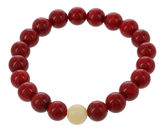 JCPenney FINE JEWELRY Dee Berkley Mens Genuine Dyed Coral and Dyed Jade Stretch Bracelet