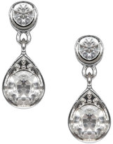 Yours Clothing Silver Crystal Drop Earrings