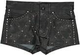 Isabel Marant Black Leather Shorts