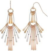 Apt. 9 Tri Tone Paddle Drop Earrings