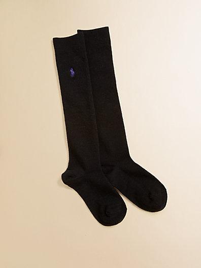 Ralph Lauren Girl's Superwash Merino Wool Over-The-Knee Socks
