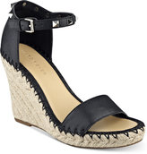 Marc Fisher Kicker Two-Piece Wedge Sandals