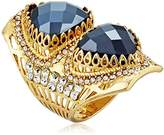 """Azaara Hot Rocks"""" Faceted Spinel with Swarovski Crystal Detail Ring, Size 8"""