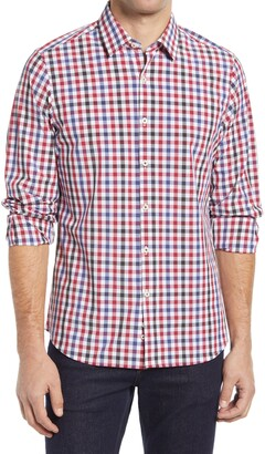 MOVE Performance Apparel Trim Fit Check Button-Up Shirt