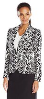 Nine West Women's 1 Button Printed Jacket