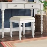 Beachcrest Home Harrison Vanity Bench Color: White