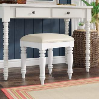 Beachcrest Home Harrison Vanity Bench Color: White