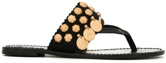 Tory Burch Patos coin thong sandals