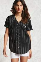 Forever 21 FOREVER 21+ Darling Baseball Jersey Top