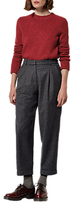 Toast Gingham Wool Trousers, Dark Navy/Charcoal