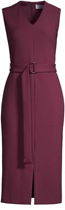HUGO BOSS Dadorina1 Diagonal Textured Jersey V-Neck Dress
