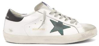Golden Goose Superstar Leather Trainers - Mens - Green White