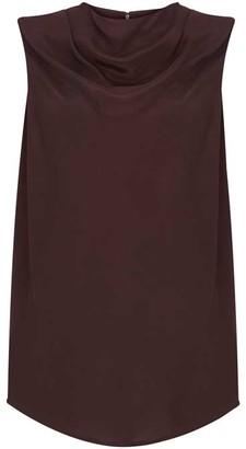 Mint Velvet Purple Cowl Neck Top