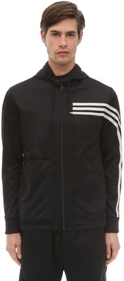 Y-3 Y 3 3 Stripe Hooded Techno Track Top