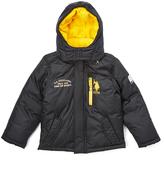 U.S. Polo Assn. Black & Yellow Zip Pocket Puffer Coat - Toddler & Boys