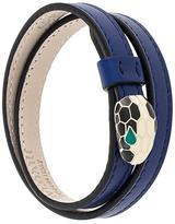Bulgari snake motif leather bracelet