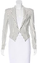 Torn By Ronny Kobo Cropped Striped Blazer