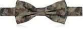 Forzieri Camo Woven Silk Pre Tied Bow Tie