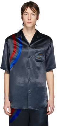 Gucci Black Satin Blitz Shirt