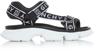 Givenchy Jaw Logo-Jacquard Leather Sandals