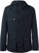 Woolrich button up hooded jacket - men - Polyester - L