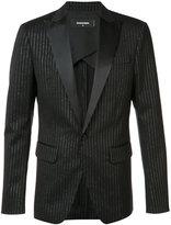DSQUARED2 striped suit jacket - men - Silk/Polyester/Spandex/Elastane/Virgin Wool - 48